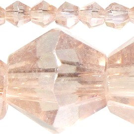 120pc 4mm Bicone Crystal Beads Peach JF514