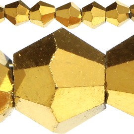 120pc 4mm Bicone Crystal Beads Solid Gold Yellow JF526