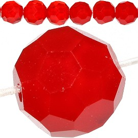 70pcs 8mm Crystal Round Spacer Red JF721