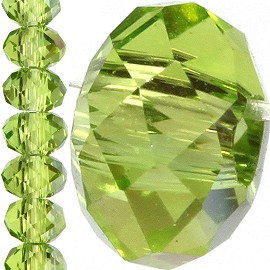 150pc 3mm Crystal Bead Spacer Apple Green JF738