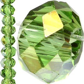 150pc Crystal Cut Bead Spacer 3mm Green Aurora JF740
