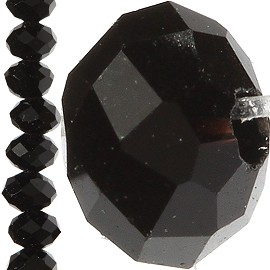 150pc Crystal Cut Bead Spacer 3mm Black JF746