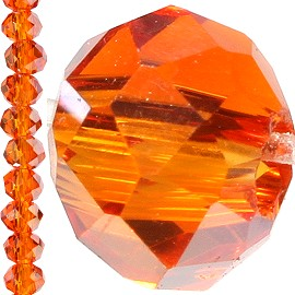 150pc Crystal Cut Bead Spacer 3mm Orange JF747