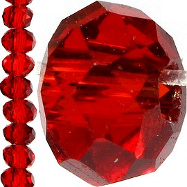 150pc Crystal Cut Bead Spacer 3mm Red JF750
