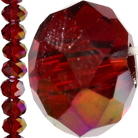 150pc Crystal Cut Bead Spacer 3mm Dark Red Aurora JF751