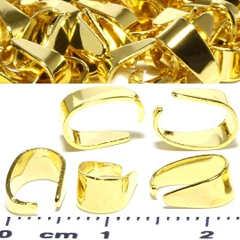 50pcs Oval Bails 9x6mm Parts for Pendant Gold Tone JF792