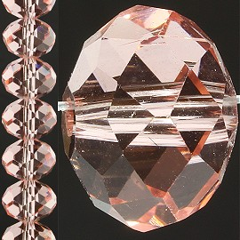 70pc 12mm Crystal Bead Spacer Peach JF846