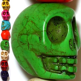 13pc 31x29x24mm Halloween Skull Head Mix Colors Spacer JF882