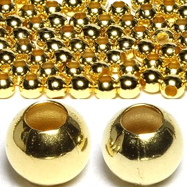 125pc 4mm Wide 1mm Hole Spacer Beads Gold JF885