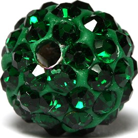 1pc 10mm Rhinestone Bead Spacer Green Dark w/1.5mm Hole JF927