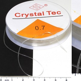 Clear Stretchable String 0.7mm Thick Make Jewelry Part JF947