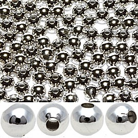 200pcs 3mm Spacer Beads Silver 1mm Hole JFK017