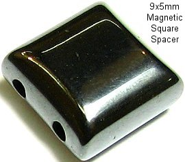 A+ Strong Magnetic Black Square Spacer 9mm 40pcs Pack JM-02