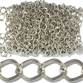 "145"" Inches Metal Chain .25"" Wide Silver JP010"