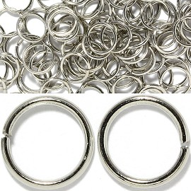 75pcs Metal Ring Spacers Gravy Silver 10mm JP106T