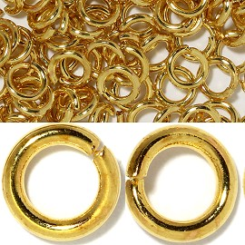200pcs 4mm Ring Chain Spacer Gold JP123
