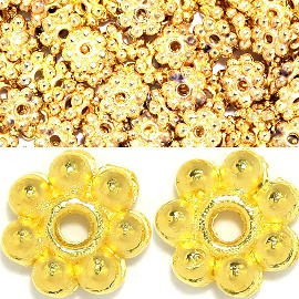 250pc 5mm 7beadstar Spacer Gold JP144