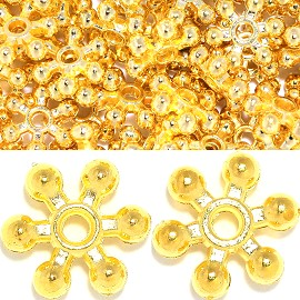 200pc 8mm 6star Spacer Gold JP145