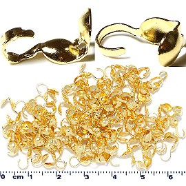 100pc Clam Double Loop Bead Gold JP193G