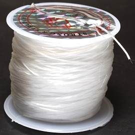 90FT Clear Stretchable Silicone Flat String 0.8mm Thick JP201