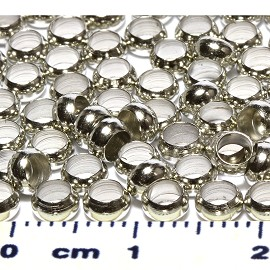 100pc 5mm Crimp Beads Silver JP350