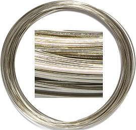 Long Metal Memory Wire Silver JP389