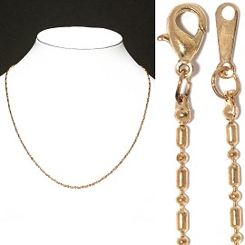 "12pc 16"" Thin Chain Necklace Gold NK519"