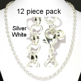 "12 pcs 20"" Silver Chain NK549"