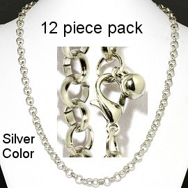 "12 pcs 20"" Silver Chain NK550"