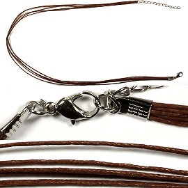 "1pc 18"" 5-String Necklace Cord Dark Brown Ns114"