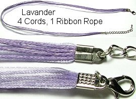 "18"" Lavender 4 Rope 1 Ribbon Narrow Head Ns119"