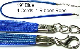 "18"" Royal Blue 4 Rope 1 Ribbon Narrow Head Ns120"