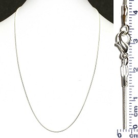 "1pc White Silver Smooth 19.5"" Chain Metal Necklace Ns123"