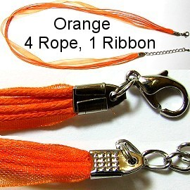 "50pcs-pk 18"" Cord 4Strings-1Ribbon Orange NK139"