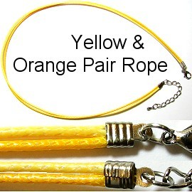 "Yellow and Pale Yellow 16"" Pair Rope Ns144"