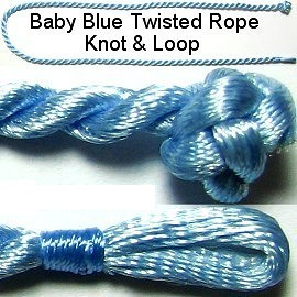 "50pcs-pk 17"" Cord Twisted Knot Loop Baby Blue NK151"