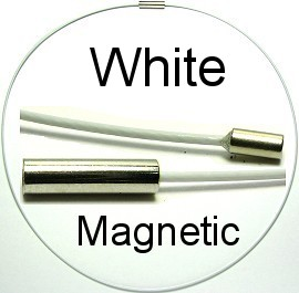 "White Magnetic End 18"" Wire Cord Ns193"