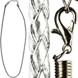 "18"" 3mm Silver Braided Rope Ns203"