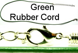 "Green 18"" Rubber Single Cord Ns205"