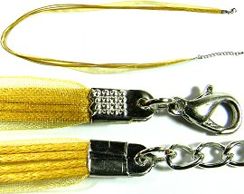 "50pcs-pk 23"" Cord 4Strings-1Ribbon Yellow Gold NK240"