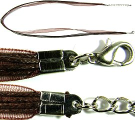 "Dark Brown 4 Rope, 1 Ribbon 23"" Cord Ns244"