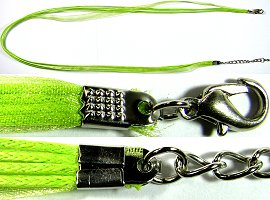 "50pcs-pk 23"" Cord 4Strings-1Ribbon Lime Green NK245"