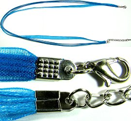 "Aqua 4 Rope, 1 Ribbon 23"" Cord Ns247"