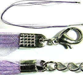 "50pcs-pk 23"" Cord 4Strings-1Ribbon Lavender NK249"