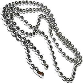 "23"" 12pcs Silver Gray Chain NK304"