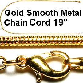 "20"" Smooth Metal Chain Cord A + Gold Ns316"