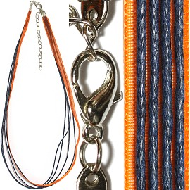"18"" Orange Navy Blue 4 Rope 1 Ribbon Narrow Head Ns382"