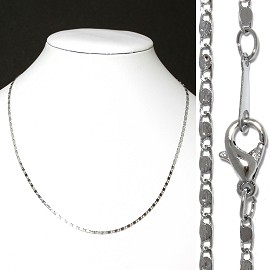 "1pc 16.5"" Chain Necklace Silver 3mm Wide Ns436"