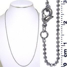 "1pc 20"" Long, 4mm Wide Opening Chain Necklace Silver Ns437"