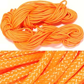 "55' Feet Woven String 1/16"" Wide Orange Ns456"